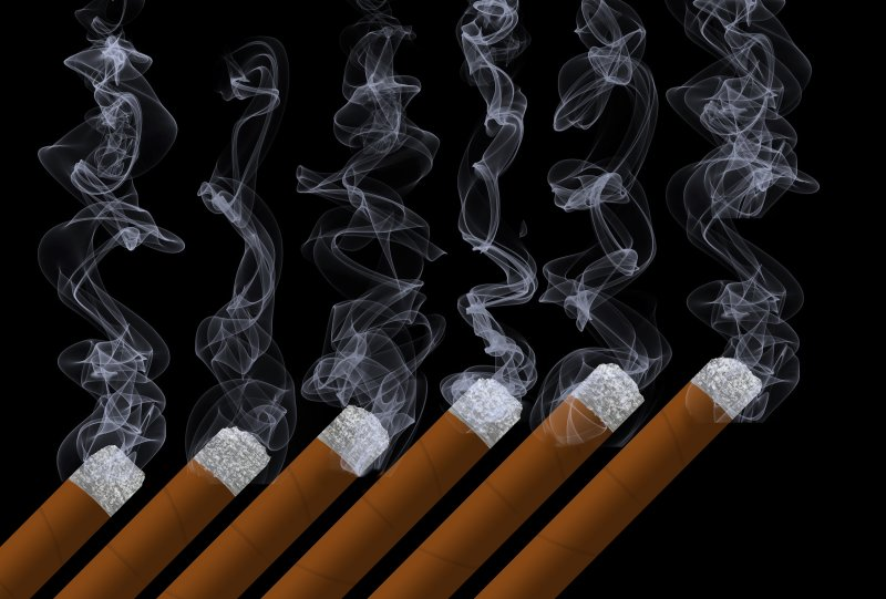 a row of cigarettes